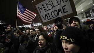 США  демонстрации против исполнительных указов о мигрантах