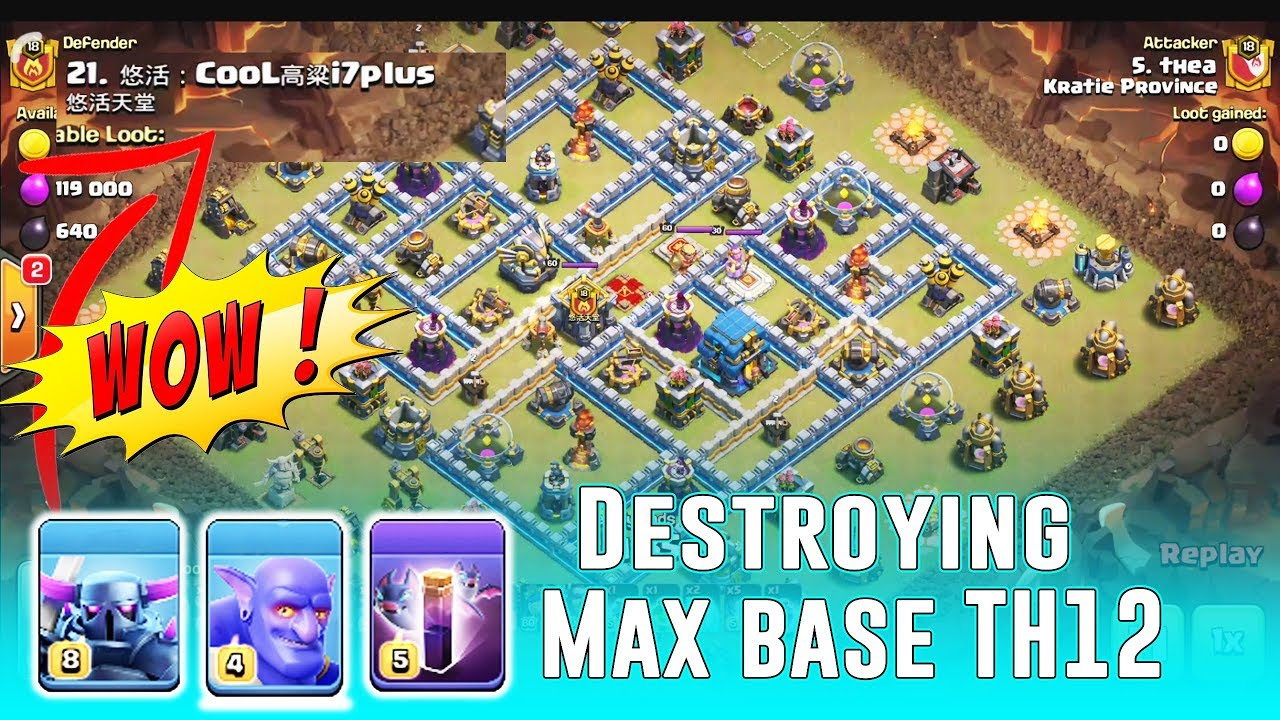 Base War Coc Th 12 Max 3