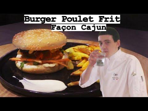 burger-poulet-frit-façon-cajun