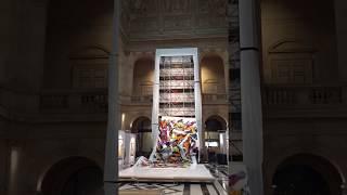 Un live painting à marseille au palais de la bourse