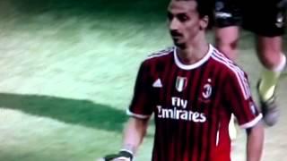 Milan-Fiorentina 1-2 Ibra vs Emanuelson [Fine primo Tempo] 07-04-2012