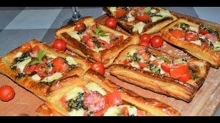 Тарталетки с помидорами, сыром и соусом песто. Домашние рецепты