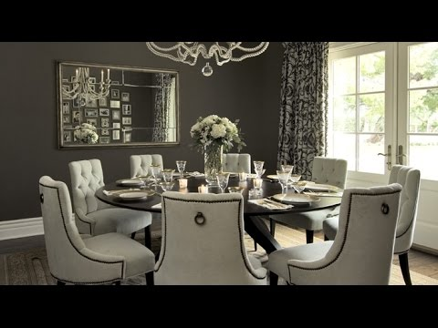 Round Dining Table Set for 8 - YouTube