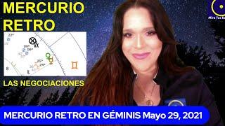 MERCURIO RETRO EN GÉMINIS y cómo nos afectará HOY EN VIVO 7PM