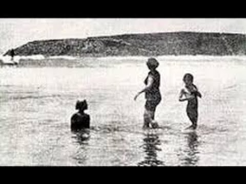 Duke Kahanamoku - Summer of 1914/15 Surfing at Freshwater Beach, NSW, Australia.
