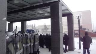 Zamieszki z policją - Górnicy Luty 2015