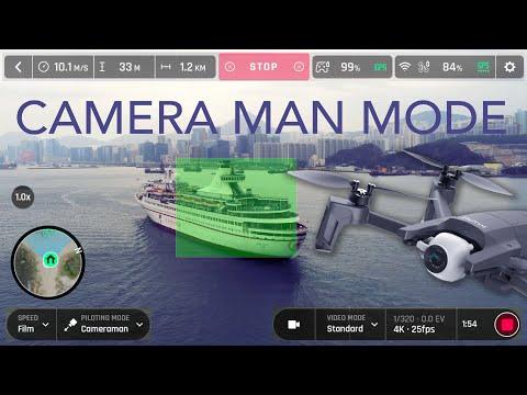 Parrot Anafi, Camera Man Mode Demo