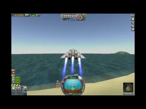 Kerbal Space Program - Stock liquid fuel plane to mun orbit and back.