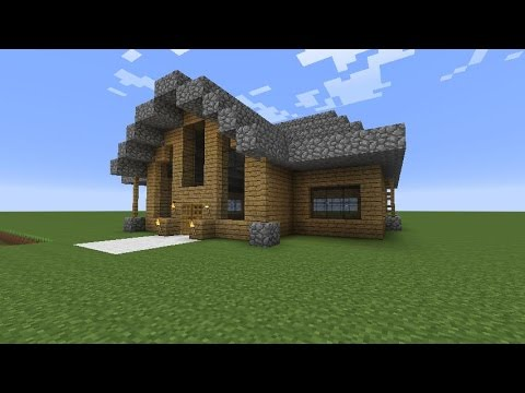 Let S Build A Beautiful Wooden House Minecraft Modern