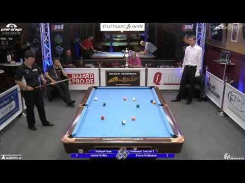 Stuttgart Open 2013, 17 Jakob Belka vs Petra Hoffmann, 10-Ball, Pool-Billard, Cue Sports