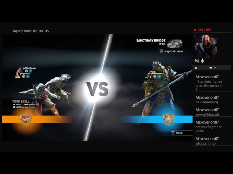 Playing with a friend on for honor