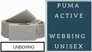 PUMA ACTIVE WEBBING UNISEX BELT UNBOXING