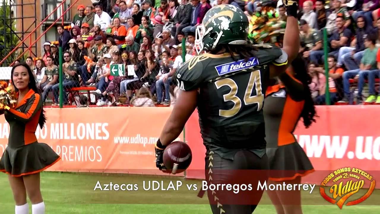 Aztecas 2015  Aztecas UDLAP vs Borregos Monterrey (resumen) - YouTube 108179558a8