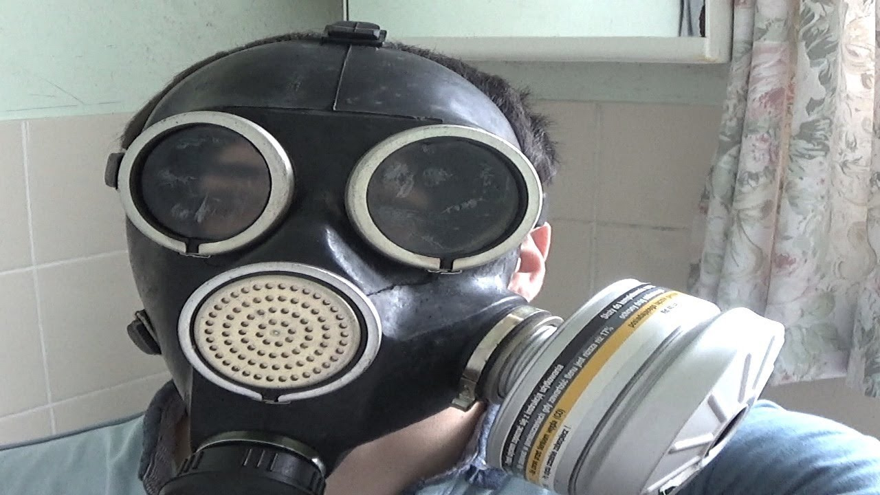 Soviet GP-7 Gas Mask test
