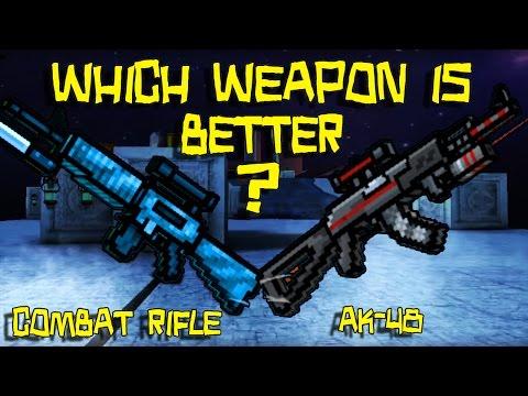 Pixel Gun 3D - Combat Rifle VS AK-48