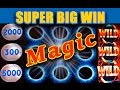 MAGIC! **SUPER BIG WIN** - ALL MAGICAL SLOT FEATURES! - Slot Machine Bonus
