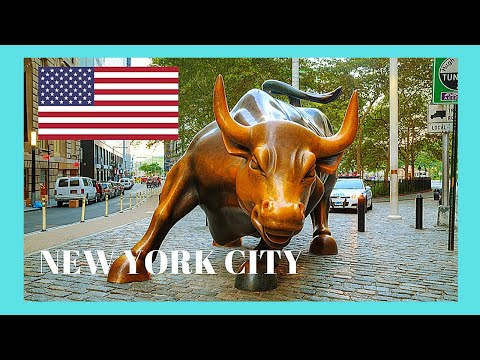 Walking around the financial district of WALL STREET, NEW YORK CITY, USA