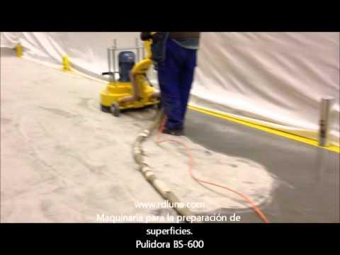 Pulidora bs 600 abriendo poro en hormigon con diamante for Pulidora de hormigon