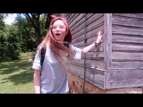 HIKING TO A HAUNTED HOUSE AT CAMP