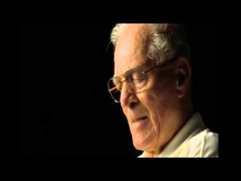 "This clip gets me every time. Dick Winters from ""Band of Brothers"" when asked ""if he was a hero in the war?"""