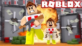 MY BABY STOLE a BANK at ROBLOX!!