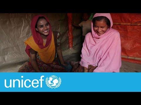 Rohingya refugee girls find hope through friendship   UNICEF