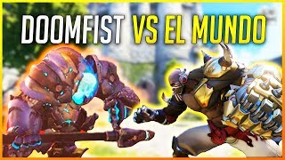OVERWATCH:¿who wins doomfist or reinhardt?and more experiments.makina