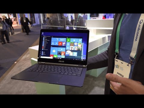 Best of CES 2018: Asus NovaGo Snapdragon 835 Windows 10 at Qualcomm CES 2018 booth