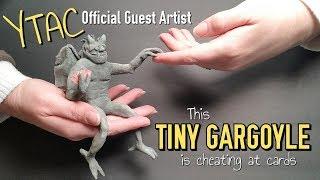 Abandoned Gargoyles : A Miniature Scene : #YTAC guest artist for Mythological Characters