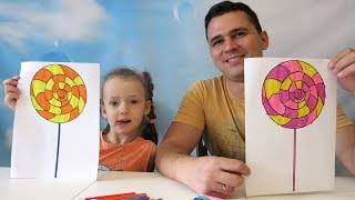 Learn Colors With Coloring Lollipop and Candy. Educational video by UT kids