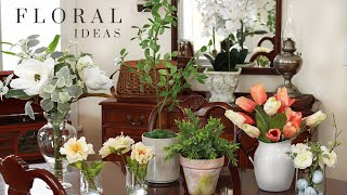Artificial Floral Arrangement Idęas - Easy Artificial Floral Centerpieces - Spring/Summer Decorating