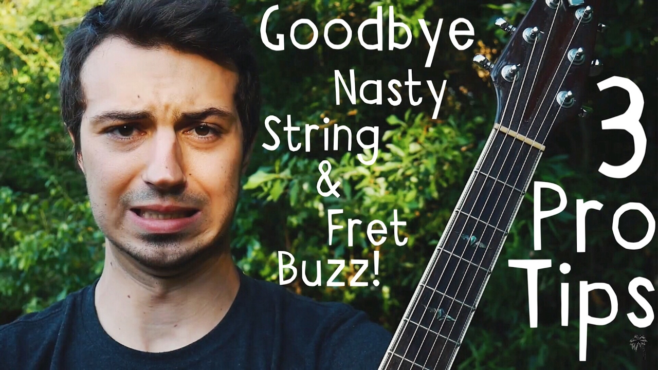 goodbye guitar string and fret buzz guitar lesson for beginners youtube. Black Bedroom Furniture Sets. Home Design Ideas