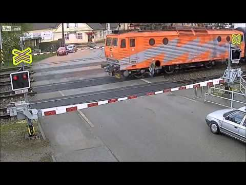 MOMENT   Czech Man Nearly Killed by Train
