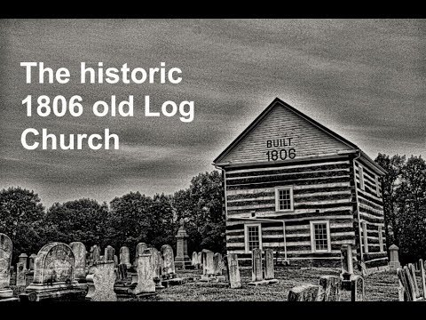 Inside this historic 1806 old log church and cemetery in Pennsylvania