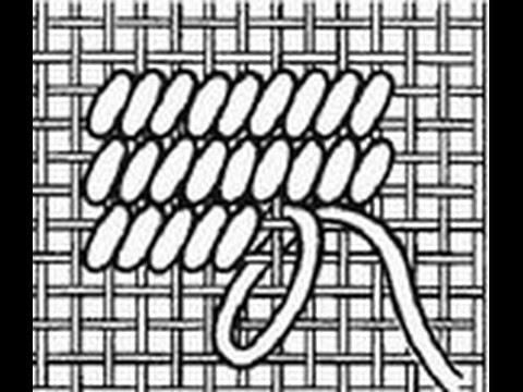 Вышивка: техники полукрест и