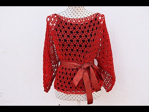 Woman Crochet Blouse Majovel Crochet