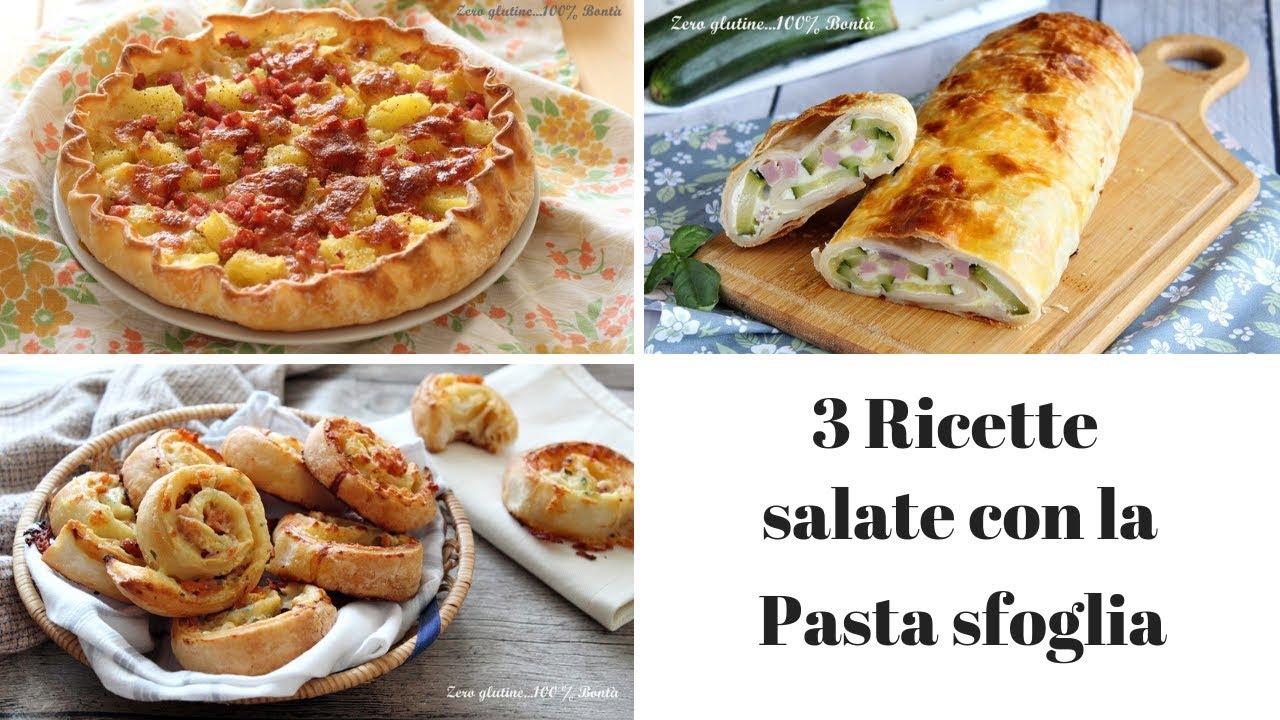 3 ricette salate con la pasta sfoglia youtube