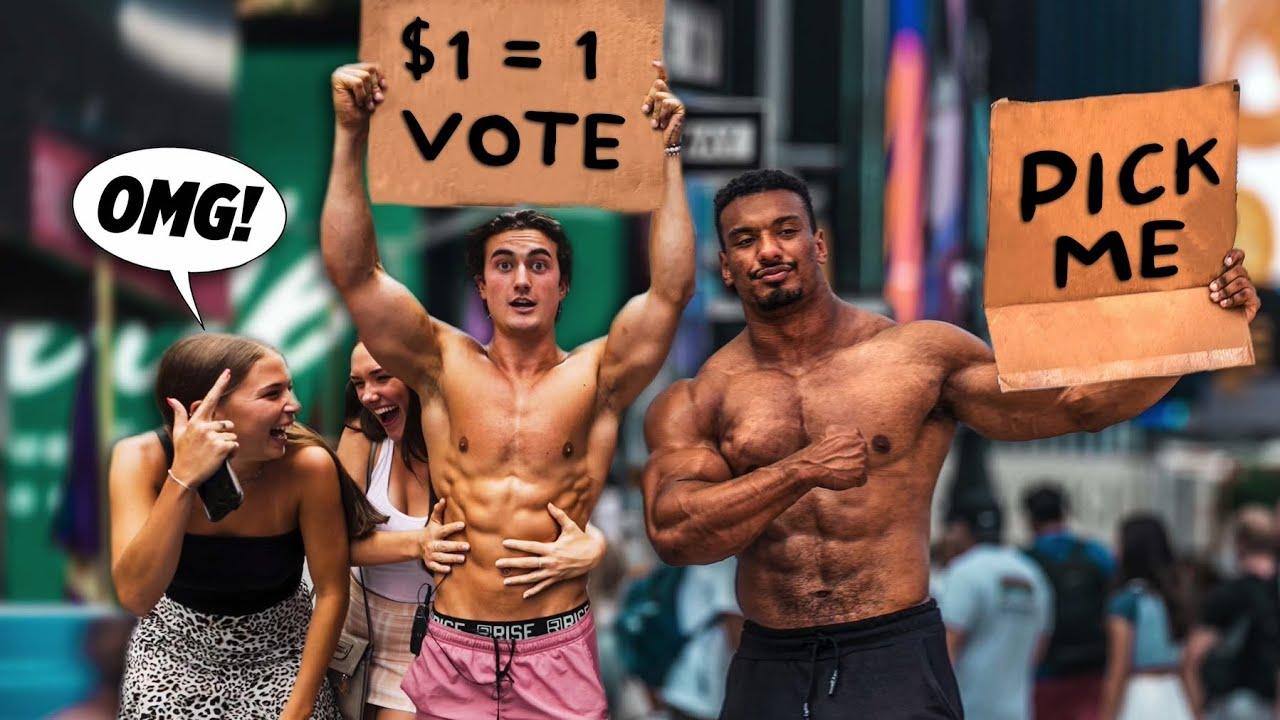 PUBLIC BODYBUILDING COMPETITION ($1 = 1 VOTE)