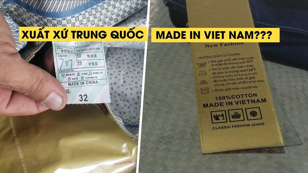 Lô hàng quần áo xuất xứ Trung Quốc nhưng ghi Made in Việt Nam