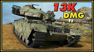 Centurion Action X - 13K Damage - World of Tanks Gameplay