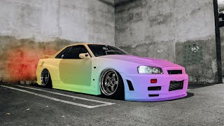 New Paint Job for the R34 Skyline!