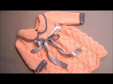 Вяжем крючком платье для девочек до 3 месяцев видео