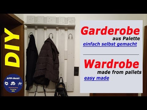 ❗Garderobe aus Paletten - DIY - einfach selber machen I Wardrobe made from pallets - easy made❗