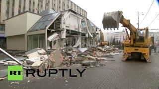 В Москве сносят ТЦ «Пирамида»