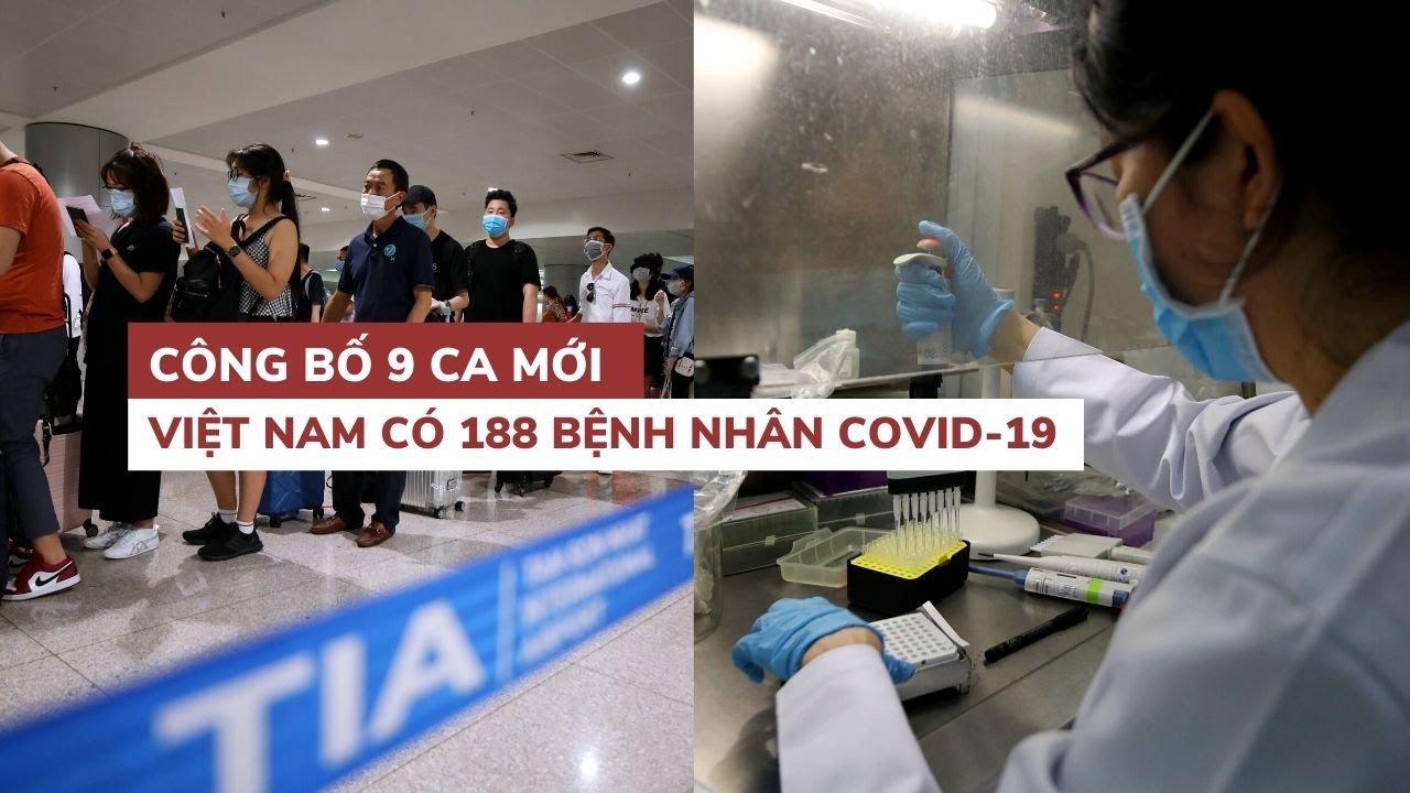 Việt Nam có 188 bệnh nhân nhiễm virus corona, một nữ phóng viên dương tính