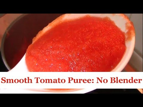 Puree Tomatoes and Other Veggies with a Metal Sieve