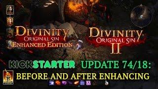 Kickstarter Update DOSEE 74 / DOS2 18: Before & After Enhancing