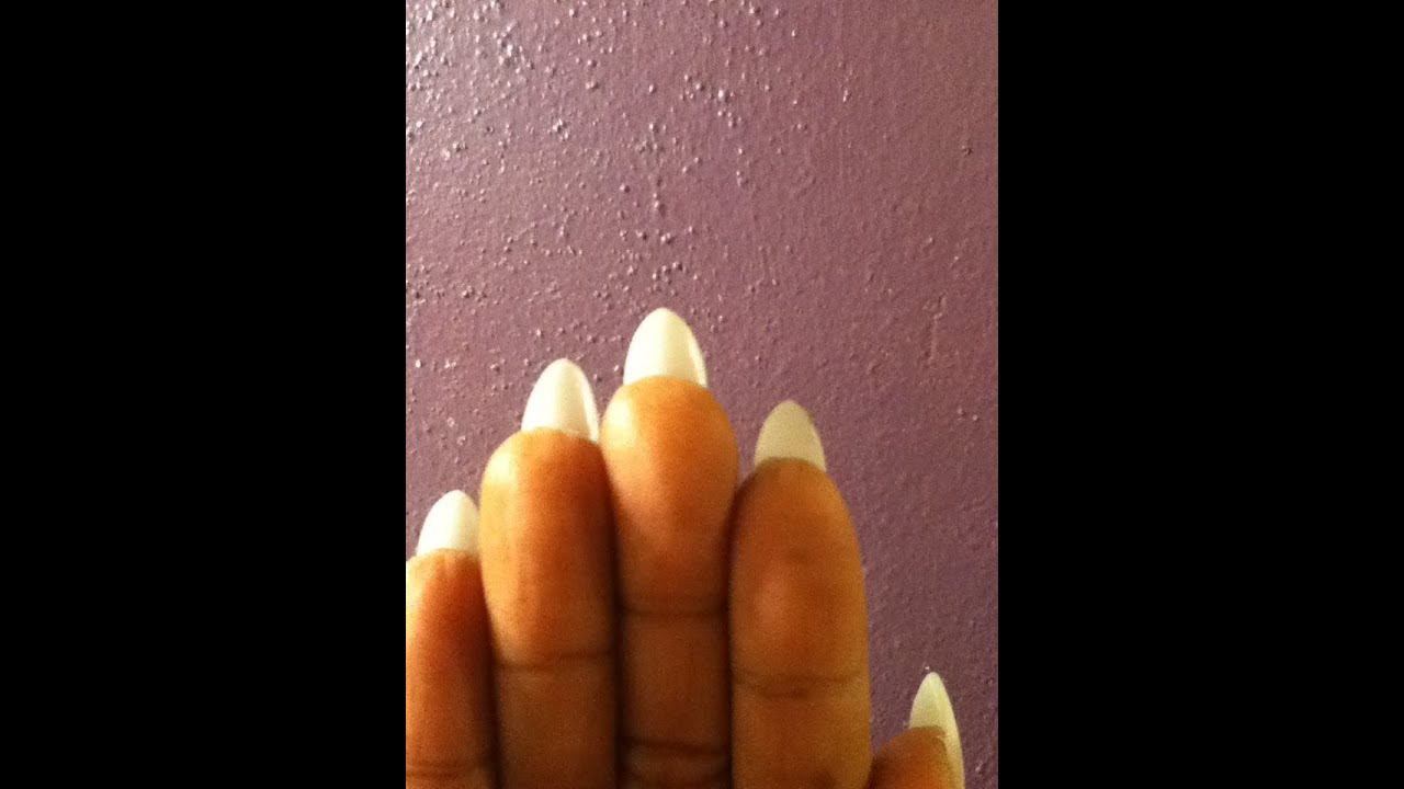 ALMOND NAILS (HOW TO DO ACRYLIC NAILS AT HOME..UPDATE) - YouTube