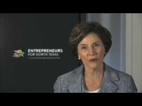 Laura Bush Congratulates Ebby Halliday Acers on Induction to EFNT Ring of Entrepreneurs