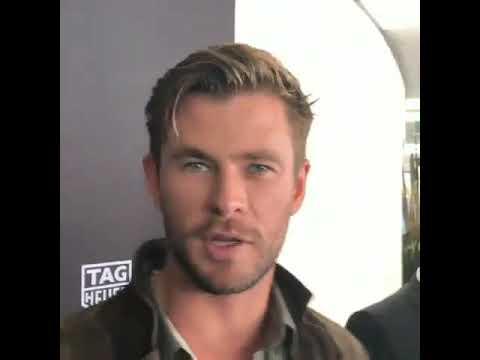Chris Hemsworth | Tag Heuer event at Sydney - YouTube